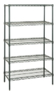 Quantum WR86-3660P-5 Wire Shelving 5-Shelf Starter Units - Proform, 36