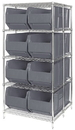 Quantum WRA86-2142C-206 Rack Bin Container Wire Package, 8 QRB206 BINS