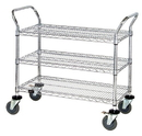 Quantum WRC-1836-3CO 3 Wire Shelf Conductive Mobile Utility Cart, 18