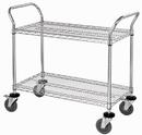 Quantum WRC-2442-2CO 2 Wire Shelf Conductive Mobile Utility Cart, 24