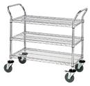 Quantum WRC-2448-3CO 3 Wire Shelf Conductive Mobile Utility Cart, 24
