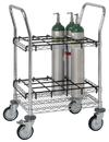 Quantum WRC-IT1824 Wire Cylinder Transport / Inhalation Therapy Cart - Chrome, 18