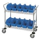Quantum WRC2-1836-1285 Quickpick Bin Mobile Wire Cart -- Complete Packages, 2 Shelf Cart, 8 QP1285 Bins