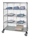 Quantum WRCS4-74-2460EP-5 5 Shelf Mobile Cart W/Solid Bottom Shelf & Enclosure Panels, 24