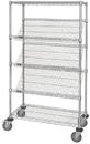 Quantum WRCSL5-63-2436 Wire Slanted Shelf Cart, 24