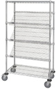 Quantum WRCSL5-63-2448 Wire Slanted Shelf Cart, 24