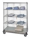 Quantum WRDBS4-63-2448EP-5 5 Shelf Dolly Base Cart W/Solid Bottom Shelf & Enclosure Panels, 24