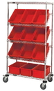 Quantum WRS-5-92035 Slanted Wire Shelving Units With Dividable Grid Containers (Outside Dimensions: 36