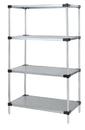 Quantum WRS4-63-2460SS Solid Shelving 4-Shelf Starter Units - Stainless Steel, 24