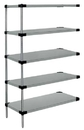Quantum WRSAD5-74-2424SS Solid 5-Shelf Add-On Units - Stainless Steel, 24