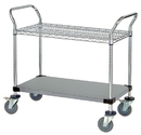 Quantum WRSC-2436SS-2S Wire Utility Carts, 24