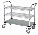 Quantum WRSC-2436SS-3S Wire Utility Carts, 24