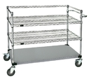 Quantum WRSC3-42-2448FS Open Surgical Case Carts - 304 Stainless Steel Finish, 24
