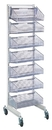 Quantum WS70-SS18-7S Partition Wall Systems - Complete Packages With Baskets, Seven 1017HBC Baskets