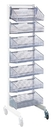 Quantum WS70-SS18AD-7S Partition Wall Systems - Complete Packages With Baskets, Seven 1017HBC Baskets