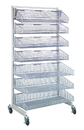 Quantum WS70-SS36-4S3L Partition Wall Systems - Complete Packages With Baskets, Four 1035HBC and three 1635HBC Baskets
