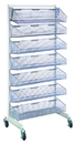 Quantum WS70-SS36-7S Partition Wall Systems - Complete Packages With Baskets, Seven 1035HBC Baskets