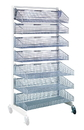 Quantum WS70-SS36AD-4S3L Partition Wall Systems - Complete Packages With Baskets, Four 1035HBC and three 1635HBC Baskets