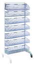 Quantum WS70-SS36AD-7S Partition Wall Systems - Complete Packages With Baskets, Seven 1035HBC Baskets