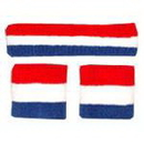 Sports Headband/Wristbands Set Striped