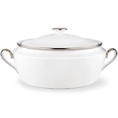 Lenox 6231245 Solitaire White® Covered Vegetable Bowl