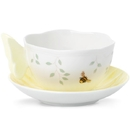 Lenox 806725 Butterfly Meadow Figural® Yellow Cup and Saucer