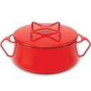 Dansk 834300 Kobenstyle Chili Red™ 2 qt. Casserole with Lid