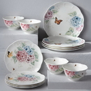 Lenox 849407 Butterfly Meadow Hydrangea® 12-piece Dinnerware Set