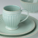Lenox 856878 French Perle Groove Ice Blue™ 4-piece Place Setting