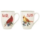 Lenox 863973 Winter Greeting® 2-piece Mr & Mrs Mug Set