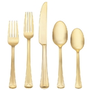 Reed & Barton 869646 Baguette™ Matte Gold 5-piece Place Setting