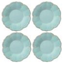 Lenox 871549 French Perle Melamine Aqua™ 4-piece Accent Plate Set