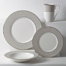 Lenox 879164 Pleated Colors Grey™ 4-piece Place Setting