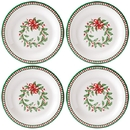 Lenox 880213 Holiday™ Melamine 4-piece Striped Dinner Plate Set