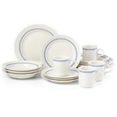 Dansk 880444 Café Blanc Stripe™ 16-piece Dinnerware Set