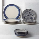 Lenox 881701 Market Place Indigo™ 12-piece Dinnerware Set