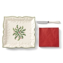 Lenox 882772 Hosting the Holidays™ 3-piece Carved Napkin Tray