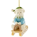 Lenox 883547 2019 Teddy Bear Sledding Ornament