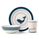 Reed & Barton 884379 Mystic Sea™ Whale 3-piece Pink Dinnerware Set