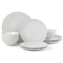 Lenox 884531 Chelse Muse Fleur White™ 12-piece Dinnerware Set