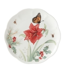Lenox 884598 Butterfly Meadow® Holiday Amaryllis Accent Plate