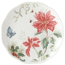 Lenox 884603 Butterfly Meadow® Holiday Poinsettia Dinner Plate