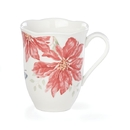 Lenox 884606 Butterfly Meadow® Holiday Poinsettia Mug