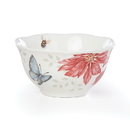 Lenox 884609 Butterfly Meadow® Holiday Poinsettia Rice Bowl