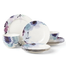 Lenox 885148 Indigo Watercolor Floral™ 12-piece Dinnerware Set
