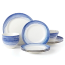 Lenox 885150 Indigo Watercolor Stripe™ 12-piece Dinnerware Set