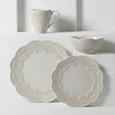 Lenox 885351 Chelse Muse Scallop Grey™ 4-piece Place Setting