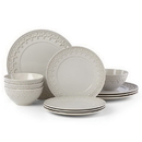Lenox 885615 Chelse Muse Fleur Grey™ 12-piece Dinnerware Set