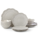Lenox 885628 Chelse Muse Scallop Floral Grey™ 12-piece Dinnerware Set