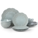 Lenox 885634 Chelse Muse Scallop Blue™ 12-piece Dinnerware Set